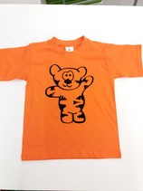 Tegerbär T'Shirt orange Flockdruck