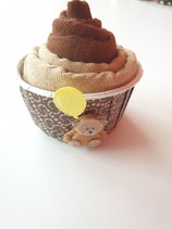 Cup Cakes schoggibraun/beige