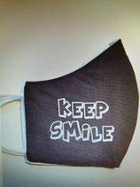 Stoffmaske Keep Smile