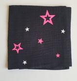 Noschi schwarz mit Neonpink/ weiss Sternen