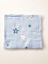 Noschi hellblau mit Sternen weiss/blau glitzer
