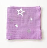 Noschi lila mit Sternen silberglitzer/weiss