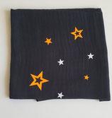 Noschi schwarz mit Neonorange/weiss Sternen