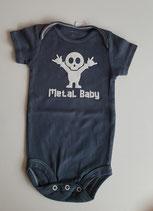 Body Metal Baby, anthrazit Grösse 68/74