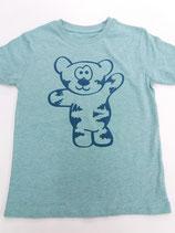 Tegerbär T'Shirt grün Flockdruck