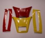 """Dachspoiler und Windleitbleche """"XLX"""", schwarz (910), weiß (875), gelb (876), rot (877), blau (878)"""