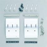 720.Schmutzfänger, 2 Stück, Aluminium poliert für Profi-Fahrgestelle
