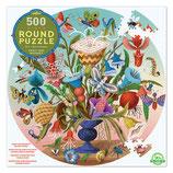 Puzzle rund Insektenstrauss 500 Teile