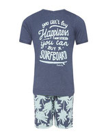 "Boys Short Set ""Palms and Waves"""