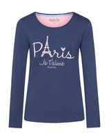 "Women Pyjama Shirt ""Paris mon cherie"""