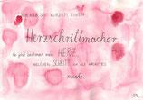 """Postkarte """"Herzschritt-  macher"""""""