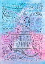 """Poster """"Leb deine Träume"""""""