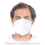 Atemschutzmaske FFP2 NR, ohne Ventil, Ohrschlaufen | PP, 100 x 10 STK