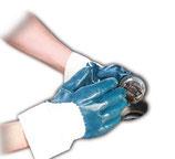 Artikelnummer: 33793-33795 Nitrilhandschuh mit Sicherheitsstulpe TERMINATOR