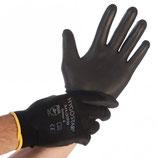Artikelnummer: 33933-33935 Nylon-Feinstrick-Handschuh mit PU-Beschichtung BLACK ACE
