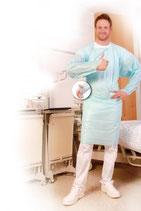 Artikelnummer:27780- 27796 CPE-Untersuchungskittel mit Daumenloch