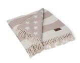 Lexington Flag Throw White / Beige