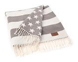 Lexington Flag Throw White / Gray