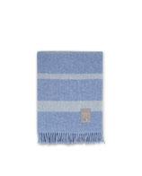 Hotel Wool Throw Blue/White