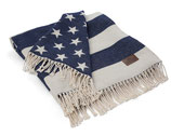 Lexington Flag Throw White / Navy