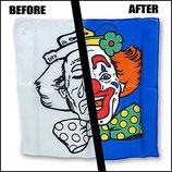 Clown Tücher traurig/fröhlich