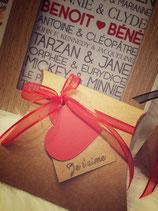"""Boîte cadeau ou bijoux """"love"""""""