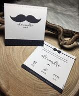 Faire-part naissance M. Moustache