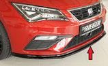 Rieger Tuning Spoilerschwert Seat Leon Cupra 5F Facelift matt schwarz / schwarz glänzend