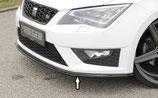 Rieger Tuning Spoilerschwert Seat Leon Cupra 5F Vorfacelift matt schwarz / schwarz glänzend
