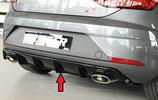 Rieger Tuning Heckeinsatz / Diffusor Seat Leon Cupra 5F Facelift matt schwarz / schwarz glänzend