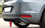 Rieger Tuning Heckeinsatz / Diffusor Seat Leon Cupra 5F Vorfacelift matt schwarz / schwarz glänzend
