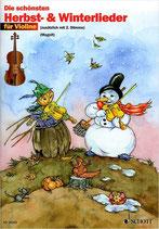 Die schönsten Herbst- und Winterlieder für Violine