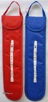 Blockflötentasche aus Nylon, leicht geoplstert