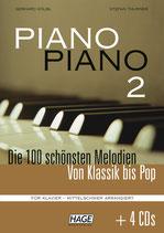 Kölbl/Thurner - Piano Piano 2 mittelschwer (inkl. 4 CD´s)