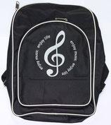 Rucksack schwarz mit Note