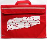 Tasche Noten rot
