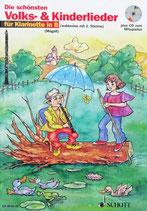 Die schönsten Volks- und Kinderlieder für Klarinette in B