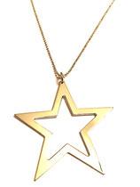 Collana lunga con stella vuota