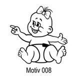 Babyaufkleber Motiv 008
