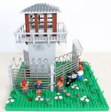 Prison tower with zombies