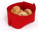 Košarica za kruh - rdeča