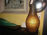Grosse lampe en résine en cage de fer