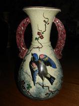Vase en céramique: décors d'oiseau