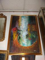 Tableau Marine huile sur toile signé ANDRE 79