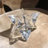 Merkaba Cristal de roche  de 6 cm POLI TRANSPARENT