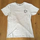 """Unisex Shirt """"Logo"""" Melange White"""