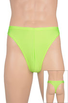Herren String-Slip Neongrün
