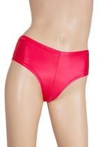 Damen Wetlook Panty rot