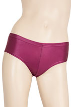 Damen Wetlook Panty bordeaux