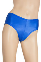 Damen Wetlook Panty royalblau